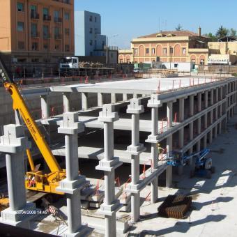 Italy - Ex Manifattura Tabacchi car park in Bologna