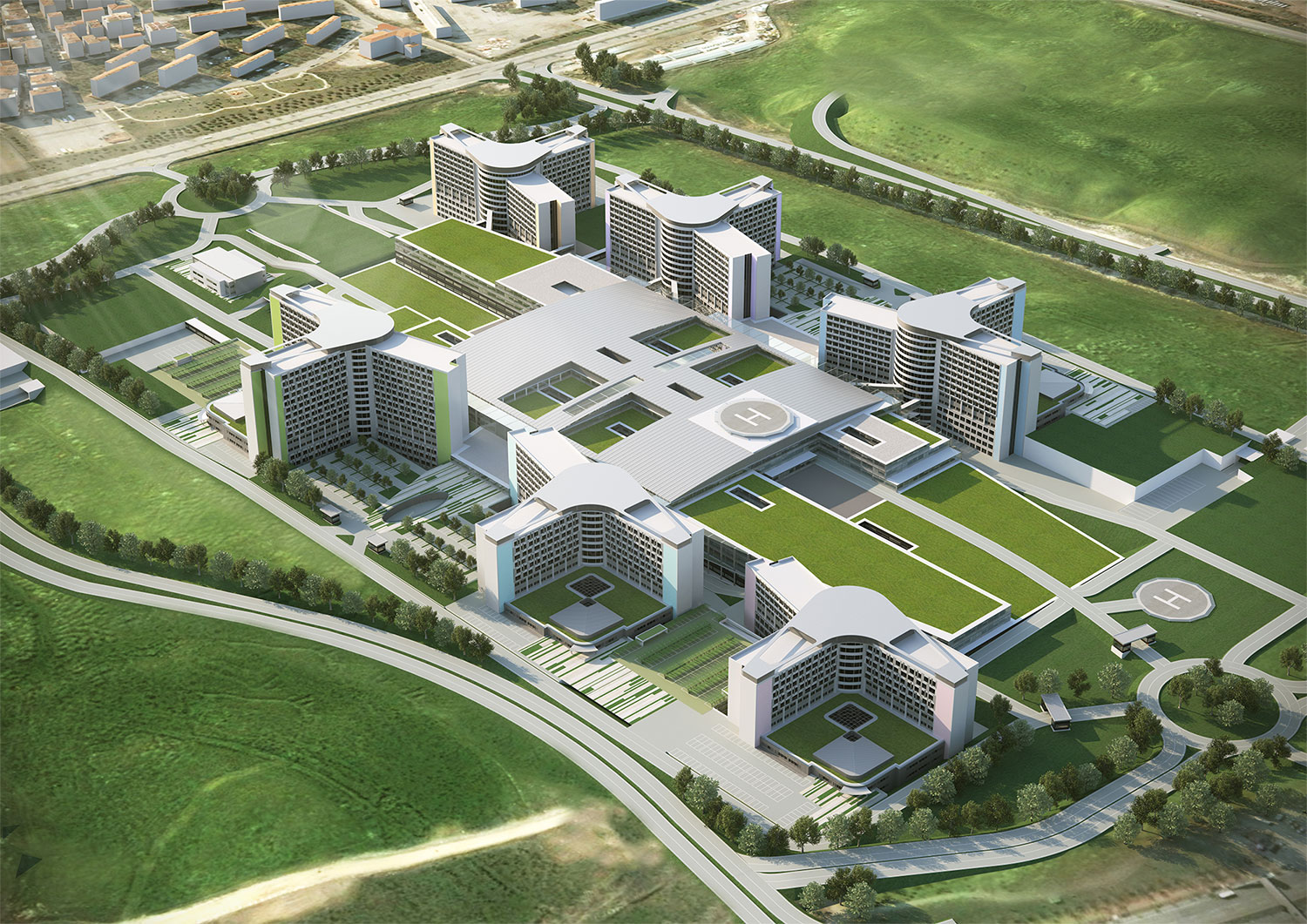 Etlik Integrated Health Campus in Ankara – render