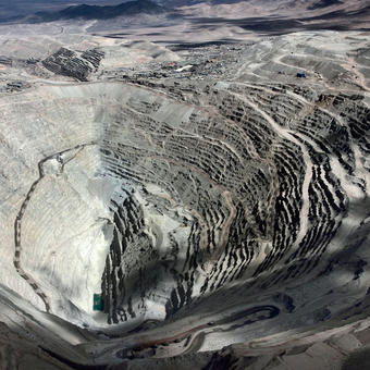 Chuquicamata Mine, aerial view (Chile)